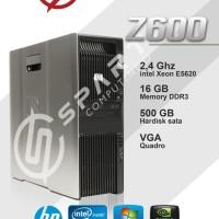 Cpu server HP z600 intel xeon 5620 ram 16 hdd 500