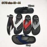 sandal jepit cowok luofu sendal japit pria karet import 6175