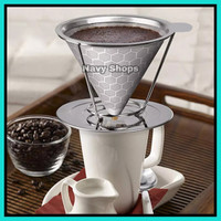 Saringan Kopi V60 Stainless - Coffee Dripper Filter - Coffee Maker