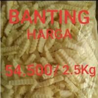KENTANG GORENG AVIKO TERMURAH 48rb/2.5kg CRINKLE CUT