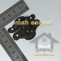 Kunci dus 48 x 37 mm / kunci box kotak souvenir / gembok antik / lock