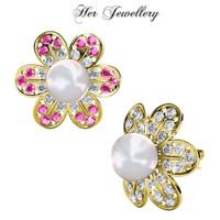 Star Pearl Brooch - Pin Bros Crystal Swarovski by Her Jewellery