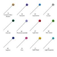 Crystal Scarf Pin (2 Pcs) - Bros Crystal Swarovski by Her Jewellery