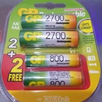GP 2700mah AA plus 800 mah AAA GP baterai GP Battery