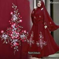 Baju Gamis Wanita Syari Maxi Narcissus Muslim Terbaru MURAH