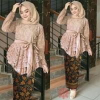 Baju Kebaya modern Wanita SET KINANTI BATIK 7K Muslim Terbaru MURAH