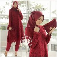 Baju Kebaya Wanita SET MERIANNE BRUKAT / MARIA Muslim Terbaru MURAH