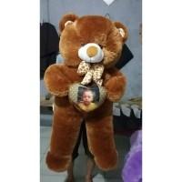[UKIR NAMA & CETAK FOTO] Boneka bear (beruang) jumbo 1m