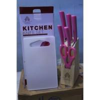 pisau gunting talenan set untuk sayur buah daging daput DM