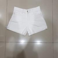 celana pendek hot pants jeans size 27 28 29 30putih non strech murah d