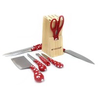 Terbaru Vicenza ASLI Pisau Set Stainless Steel Dan Talenan Knife Set