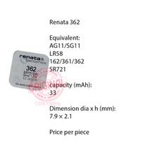 Button Cell - Renata - 362 (SR721SW)