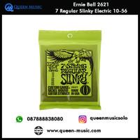 senar ernie ball 2621 7 string regular slinky elektrik 10-56