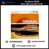 senar daddario ez900 extra light akustik 10-50
