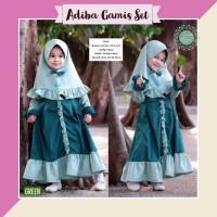 Baju muslim gamis anak umur 2 3 4 5 6 7 8 9 10 11 12 tahun adiba ori