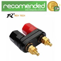 Rich Tech Banana Plugs Red Black Connector Amplifier - RTC6002160 - M