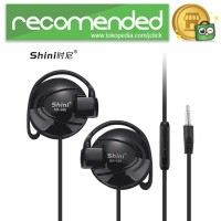 Shini Earhook Clip-on Headphone Sporty - SN-666 - Hitam