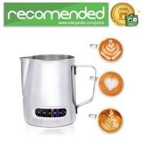 Leeseph Teko Kopi Espresso Latte Art 600ml with Thermometer - Silver