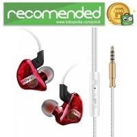 Fonge Earphone Stereo Bass Dynamic Driver dengan Mic - T01 - Merah