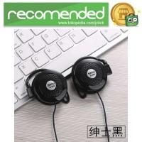 Shini Earhook Clip-on Headphone Sporty - S520 - Hitam