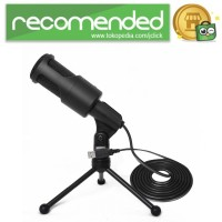 Portable Microphone USB with Stand - SF-960B - Hitam