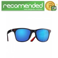 AOFLY Kacamata Pria Wayfarer Polarized Sunglasses TR90 - P21 - Hitam