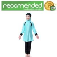 HANYIMIDOO Baju Renang Muslim Anak Perempuan - H2010 - 120 cm - Biru