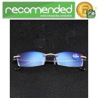 Kacamata Baca Frameless Blue Film Reading Glasses Plus 1 - 641 - Hita