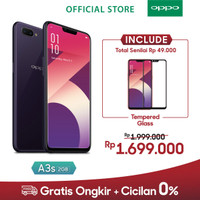 OPPO A3s Smartphone AI Beauty 2.0 Camera 2GB/16GB Purple