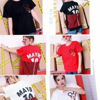 blouse kaos premium import mei9oo