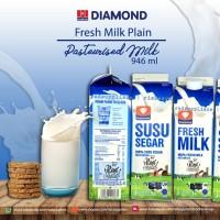 Diamond Freshmilk Plain 1liter, Susu Pasteurisasi 1liter