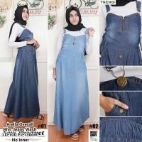 Dress Maxi Panjang Gamis Kaftan Wanita Jumbo Long Dress Carlina Navi Source · PM overall rok panjang bahan jeans wash baju muslim rok kodok