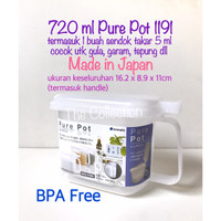DP0160JP JAPAN 1191 Pure Pot 720ml + Sendok Takar 5ml Tempat Bumbu