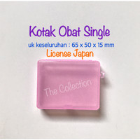 TP0127 License Japan 1016 Kotak Obat SINGLE Medicine Box 915627 Pill