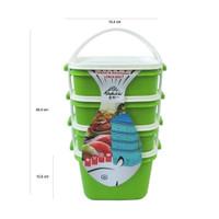 Kindaichi Susun 4 / Microwave Lunch Box Catering Kotak Makan Rantang