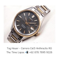 Tag Heuer - Carrera Cal.5, Anthracite Dial Steel & 18K Rose Gold