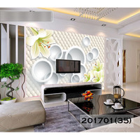 Wallpaper Custom Bunga 3D- Wallpaper Custom Bunga Murah