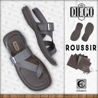 Art. Diego Roussir - Sandal Tali Sopan Casual Formal Pria - CAMOU - Roussir, 39