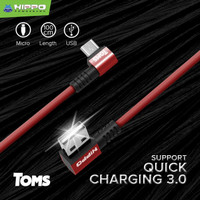 Hippo Kabel Data Charger Toms 100cm Quick Charging 3.0