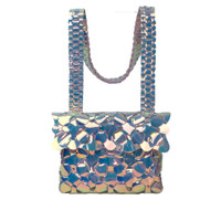 Byo Anatomy Bag in Iridescent Silver