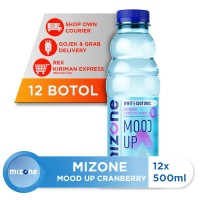 Mizone Isotonik Bernutrisi Mood Up Cranberry 500ml (12 botol)