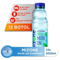 Mizone Isotonik Bernutrisi Move On Starfruit 500ml (12 botol)