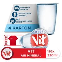 Beli 4 Box VIT Air Mineral 220ml GRATIS Kaos Eksklusif