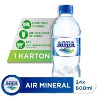 AQUA Air Mineral 600ml (24 botol) [P]