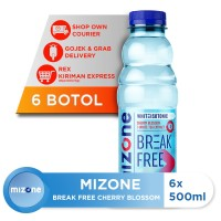 Mizone Isotonik Bernutrisi Break Free Cherry Blossom 500ml(6botol) [P]
