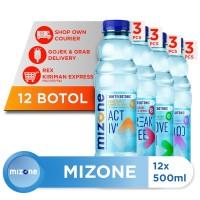 Mizone Isotonik Bernutrisi Mix Variants 500ml (12 botol)