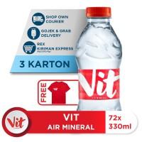 Beli 3 Box VIT Air Mineral 330ml GRATIS Kaos Eksklusif [P]