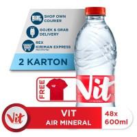 Beli 2 Box VIT Air Mineral 600ml GRATIS Kaos Eksklusif [P]