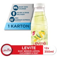 Levite Minuman Berasa MONTIMIN: Lemon, Timun & Mint 350ml (12 botol)