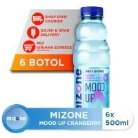 Mizone Isotonik Bernutrisi Mood Up Cranberry 500ml (6 botol)